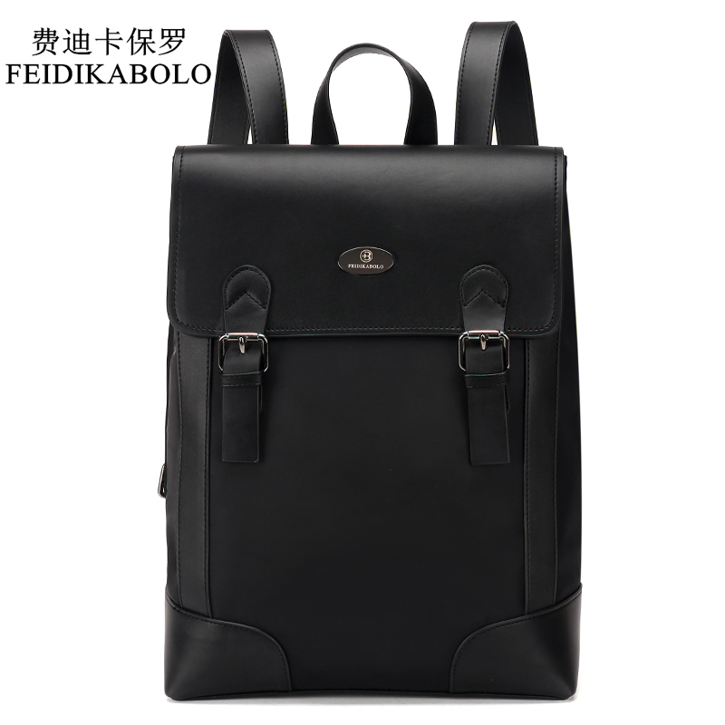 FEIDIKABOLO Brand Male Backpack Preppy Style Leather School Backpack Bag Men Oxford Teenagers Fashion Backpack mochila masculina pop relax electric vibrator jade massager light heating therapy natural jade stone body relax handheld massage device massager