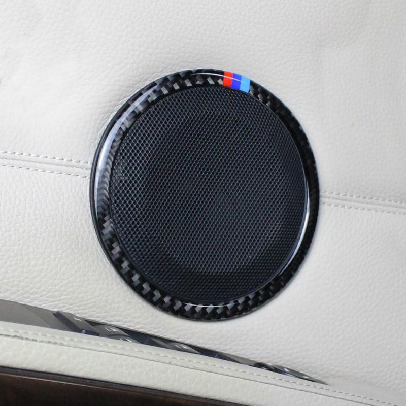 Speaker Loud Cover Sticker Carbon Fiber Fit for BMW 3 Series E90 2005-12 X1 E84