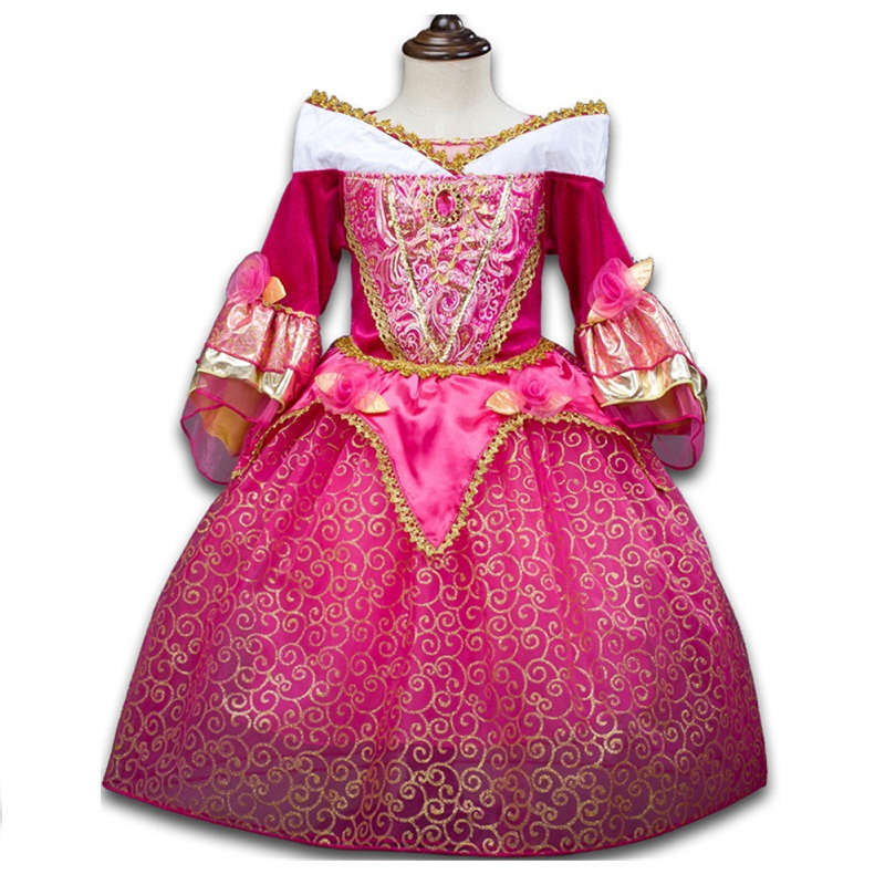 New Christmas Girls dress Movie Cosplay Costume Fairy Cinderella Princess Dress Fancy Bows Party Dresses children clothes hot new year children girls fancy cosplay dress snow white princess dress for halloween christmas costume clothes party dresses