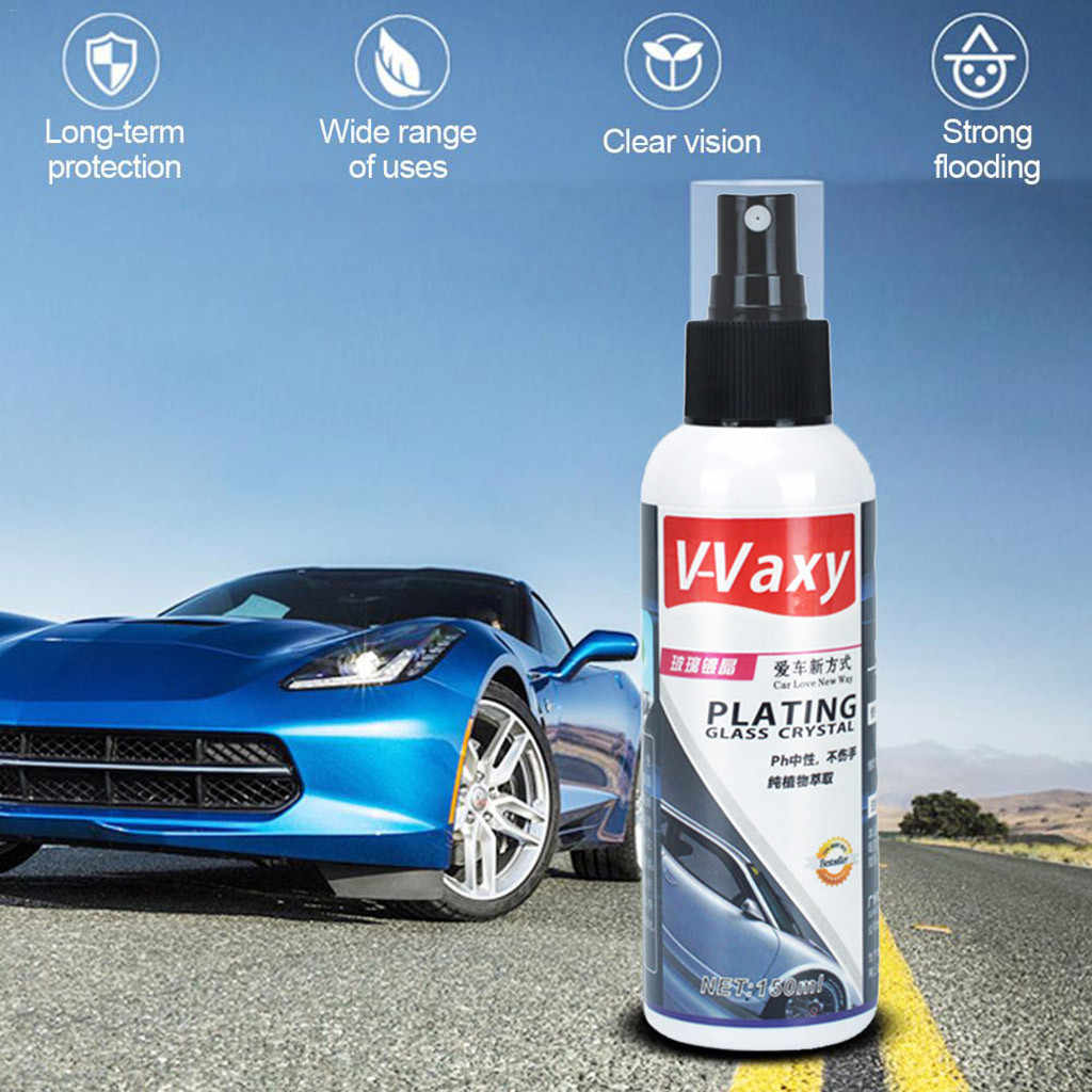Ceramic Car Coating Liquid Glass 150ML 9H Hardness Car Polish Motorcycle Paint Care Nano Hydrophobic Coating Spray Cleaning