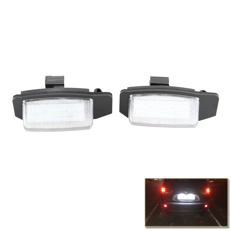 Canbus No Error Vehicles Auto Car Led Number License Plate Lamp Lights For Mitsubishi Outlander Lancer Sportback (EUR)[CX0#] auto car led number license plate lights lamp bulb car styling xenon white for mitsubishi asx vehicles tail rear lamp