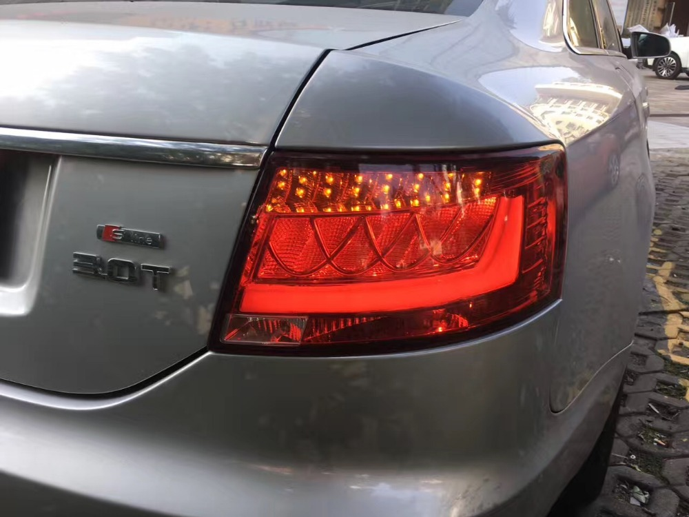Free shipping China VLAND Car led taillight for Audi A6L 2005-2008 LED tail lamp free shipping vland factory car parts for camry led taillight 2006 2007 2008 2011 plug and play car led taill lights