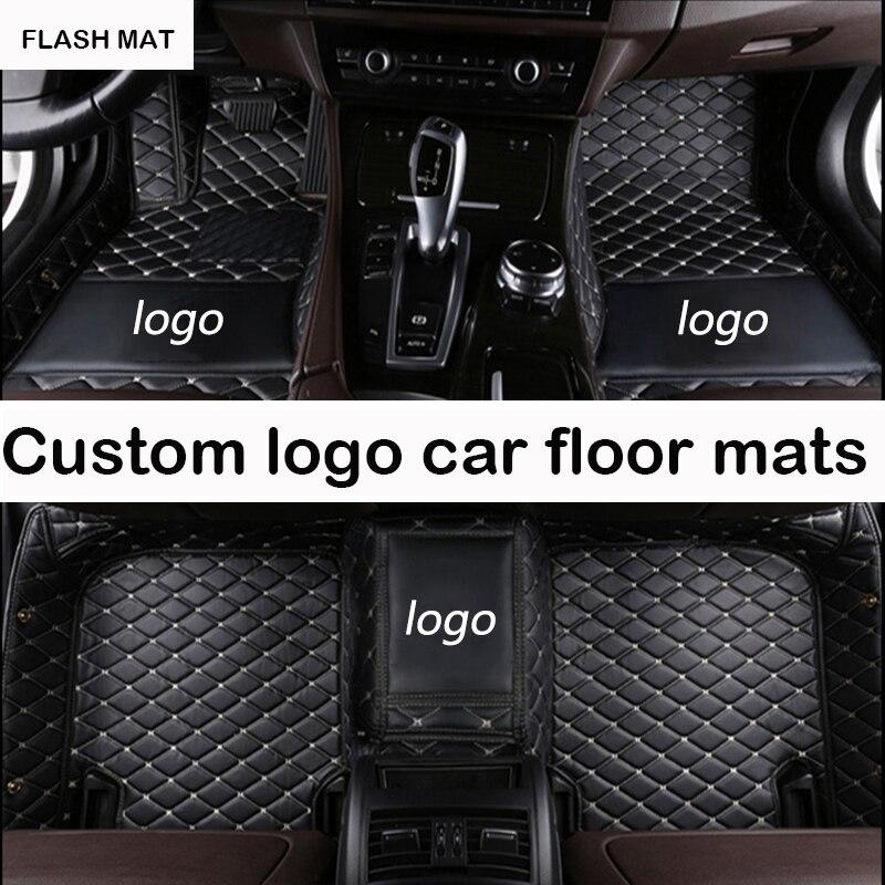 Custom LOGO car floor mats for audi a3 sportback a5 sportback tt mk1 A1 A2 A3 A4 A5 A6 A7 A8 Q3 Q5 Q7 S4 S5 S8 RS car mats ветровики ст audi a5 5d sportback 2009 s5 5d sportback 2009