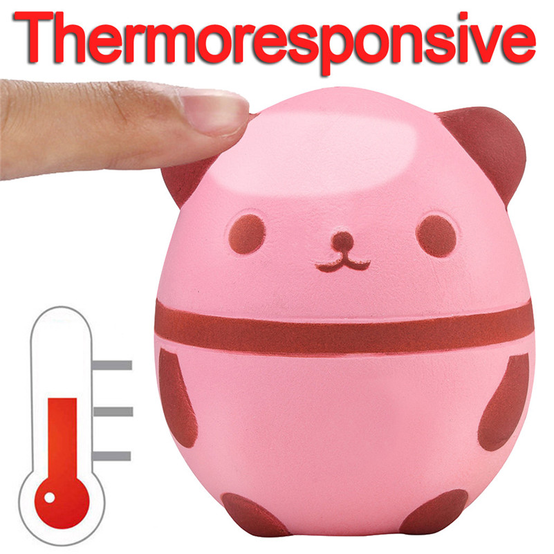 Thermal Induction Temperature Color Change Squishies Panda Slow Rising Scented Reliever Stress Toy Adorable Toy Anti-stress D4