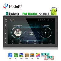 Podofo 2din Car Radio Android multimedia player Autoradio 2 Din 7'' Touch screen GPS Bluetooth FM WIFI auto audio player stereo