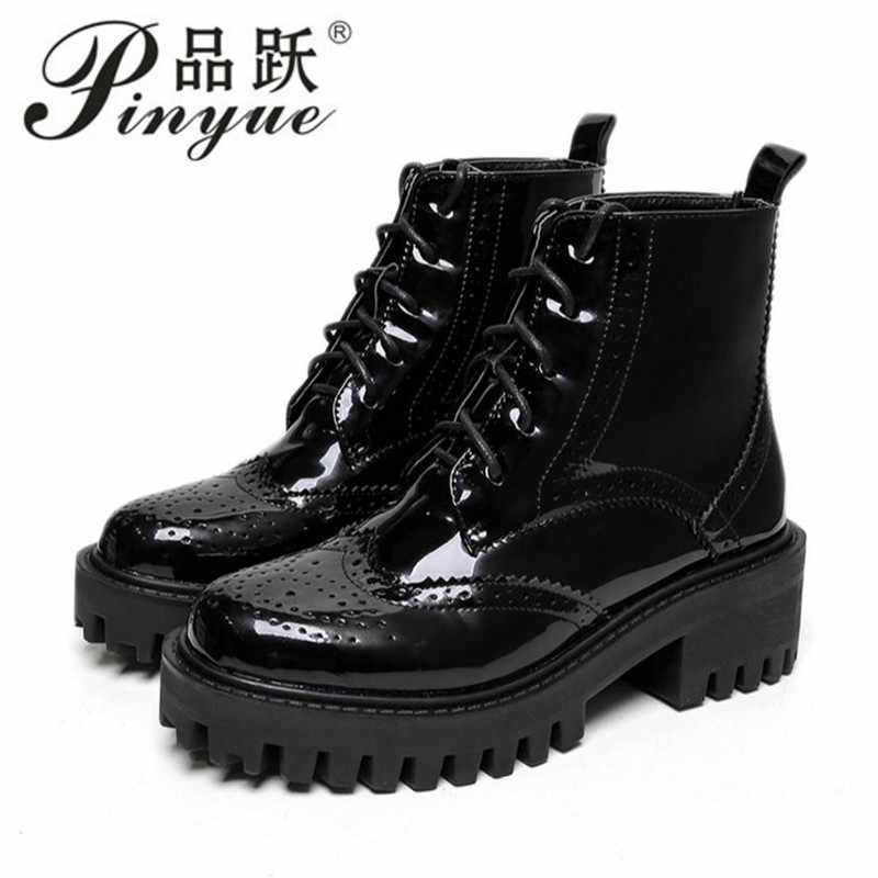 69e299af212a Ankle Boots Women Thick Platform Chunky Block High Heels Boots Ladies Shoes  Punk Rock Gothic Boots