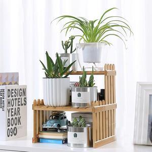 Image 5 - Étagère en bambou avec nouveauté plantes, présentoir de fleurs, présentoir de rangement