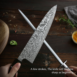 Image 5 - XINZUO Knife Sharpener Rod Kitchen Accessorie High Carbon Stainless Steel Sharpener Stick Knife Grinder Rosewood or Ebony Handle