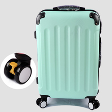 Wholesale!High quality 22inches candy color abs pc travel luggage bags on brake universal wheels,hardside suitcase for girl