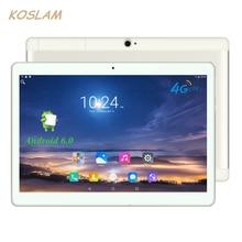 """4g android 6.0 tablet pc tab pad 10 pulgadas 1920×1200 ips quad core 2 GB RAM 16 GB ROM Dual SIM Card LTD FDD Phone Call 10 """"Phablet"""
