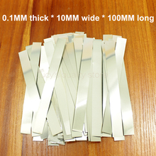 100g/bag 18650 nickel-plated steel battery connection sheet high quality spot weldable nickel 0.1MM thick * 10MM wide