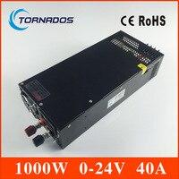 LS-1000-24 один Выход 0-24 В импульсный источник питания для Светодиодные ленты свет AC-DC SMPS 1000 Вт 24 В 40A