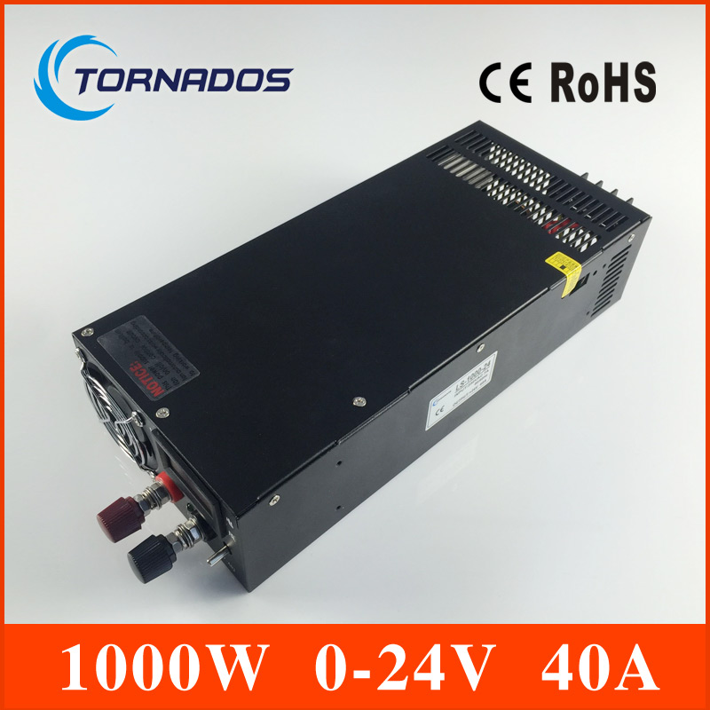 LS-1000-24 Single Output 0-24v Switching power supply for LED Strip light AC-DC SMPS 1000W 24V 40A ac dc high power factory direct sale 24v 1000w scn 1000 24 high watts single output switching power supply for led strip light