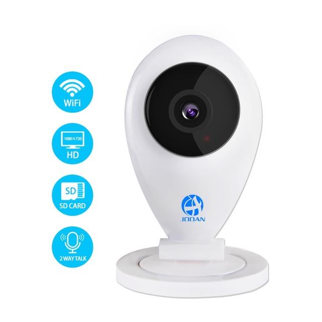 JOOAN NEW Inteligente câmera de Vigilância cctv segurança 720 P Mega pixel HD Câmera IP Sem Fio Wi-fi P2P H.264 TF Cartão De Armazenamento Algorith