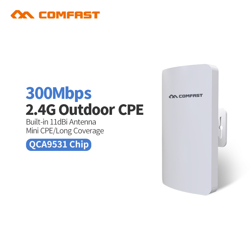 Comfast CF-E110N Outdoor Mini Wireless WIFI Extender Repeater AP 2.4G 300M Outdoor CPE Router WiFi Bridge Access Point AP Router jd коллекция 300m потолок ap дефолт