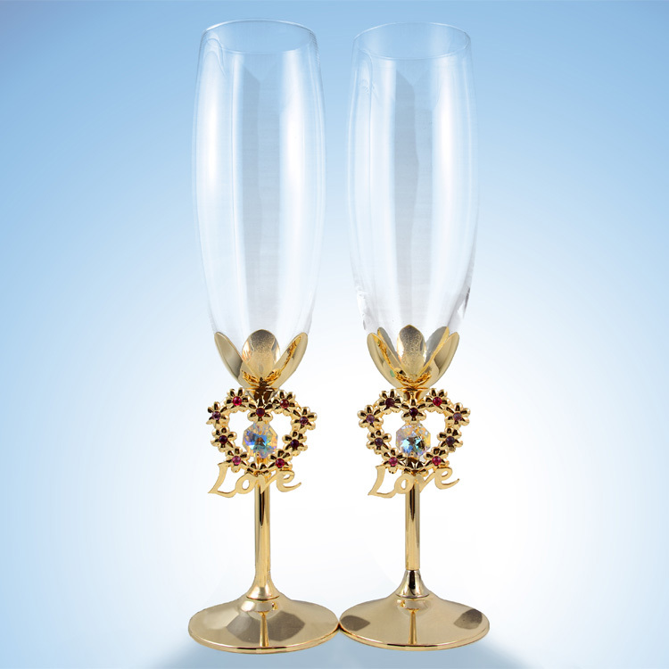 Wedding Gifts For Bride 2015 : Wine Glasses 2015 Fashion Free Shipping Wedding Gifts for Bride ...