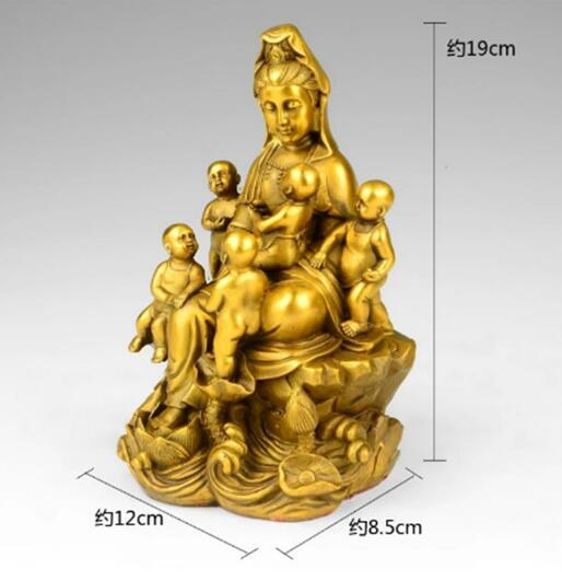 The copper decoration five son Avalokiteshvara Songzi Guanyin Buddha temple dedicated to Home Furnishing The copper decoration five son Avalokiteshvara Songzi Guanyin Buddha temple dedicated to Home Furnishing
