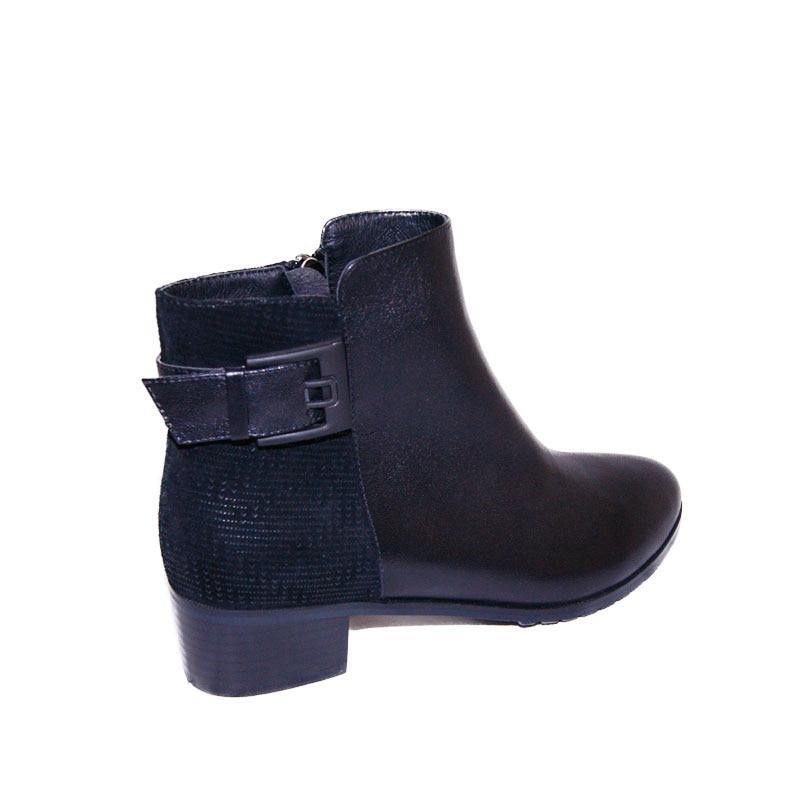 Dame Épais Fn52 Talon Bottes Filles Bas Hiver Mouton Chaussures Mode 2018 Pritivimin Courtes Peau En Femmes Boucle Chaud Cheville De A5yg4