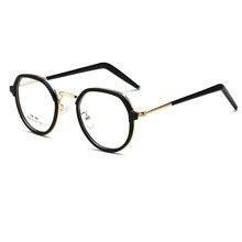2017 Revestimento anti-radiação Óculos Frames Homens Mulheres TR90 e Metal Optical Espelho Simples Armação De Óculos para Miopia óculos