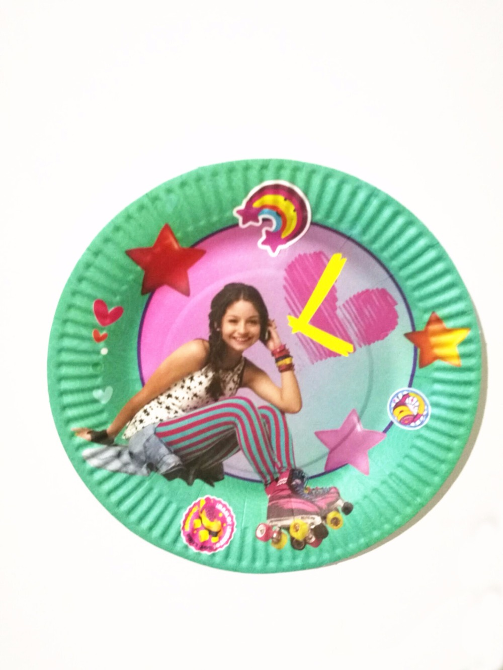 10pcs 7inch Baby Shower soy Luna Paper Plates Happy Birthday Party Cartoon Theme Kids Favors Decoration Supplies Tableware