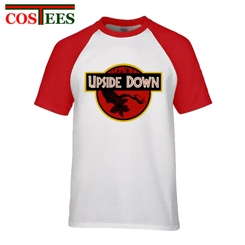 Awesome TV Show Stranger things T shirts men hawkins demogorgon T-shirt kids Jurassic Park tee shirt hip hop shirt Teenager boys
