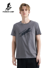 Pioneer Camp casual Short Sleeve Mens T shirt Brand Clothing Leopard Printed T-shirt Men Cotton Stretch Tshirt ADT902117