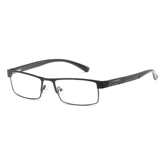 High Quality MEN Titanium alloy Eyeglasses Non spherical 12 Layer Coated lens reading glasses +1.0 +1.5 +2.0 +2.5 +3.0 +3.5+4.0 6