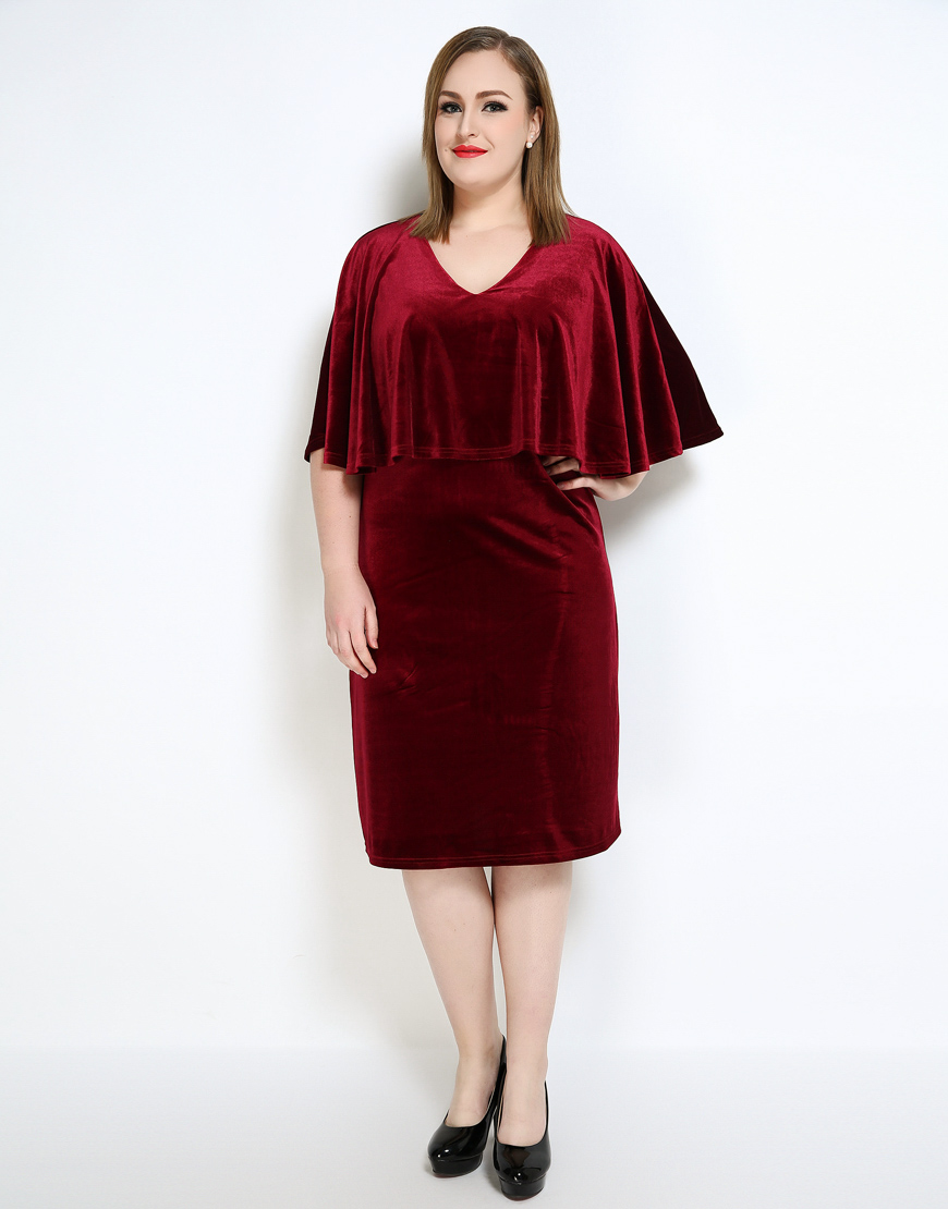 Plus Size Semi Formal Dress Velvet