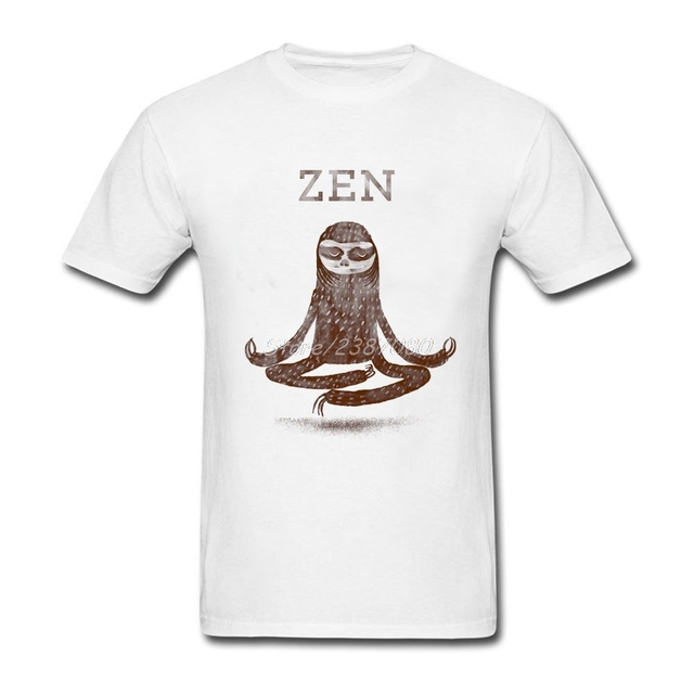 Zen Sloth T Shirt Plus Size Short Sleeve Tshirt Men