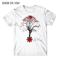 2017 Latest High Quality Printing Men T Shirt Red Hot Chili Peppers Tree Design T Shirt