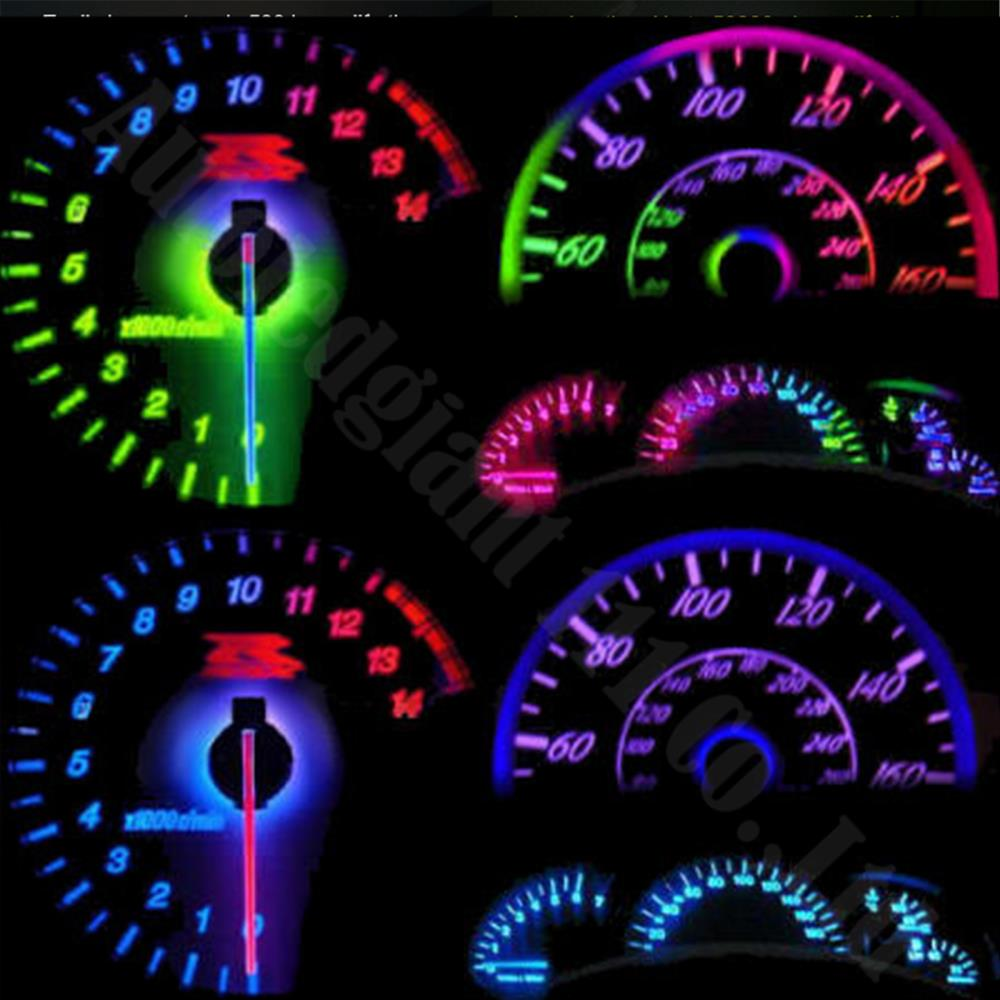 small resolution of 25pieces bright 7colors car dashboard lights wedge t5 led 74 286 5050 smd gauge instrument panel light bulb dash lamp for dodge in car headlight bulbs led