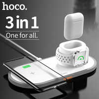 HOCO 3 in 1 Wireless Charger Stand for iPhone AirPods Apple Watch, Charge Dock Station Charger for Apple iWatch Series 4/3/2/1