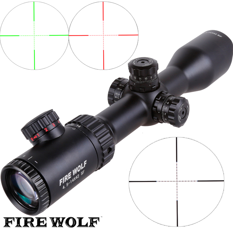 FIRE WOLF 4.5-14X42 SF Riflescopes Rifle Scope Hunting Scope w/ Mounts цена