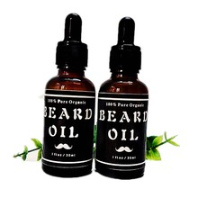 2pcs Natural Organic Beard Oil & Leave-In Conditioner for Groomed Beard Growth, Mustache, Softens Your Beard and Stops Itching