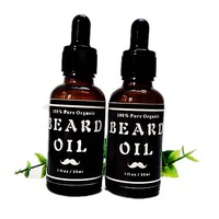 2pcs Natural Organic Beard Oil Leave In Conditioner For Groomed Beard Growth Mustache Softens Your Beard