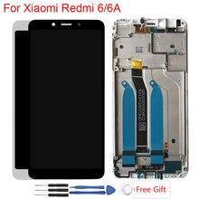Дисплей для Xiaomi Redmi 6 Оригинальный ЖК-дисплей с рамкой сенсорный экран в сборе ЖК для Redmi 6A ЖК-дисплей запасные части