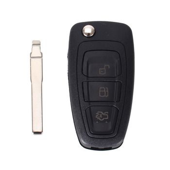 chiave telecomando per Ford Focus Fiesta 2013 Fob Case with HU101 Blade Free Shipping 1