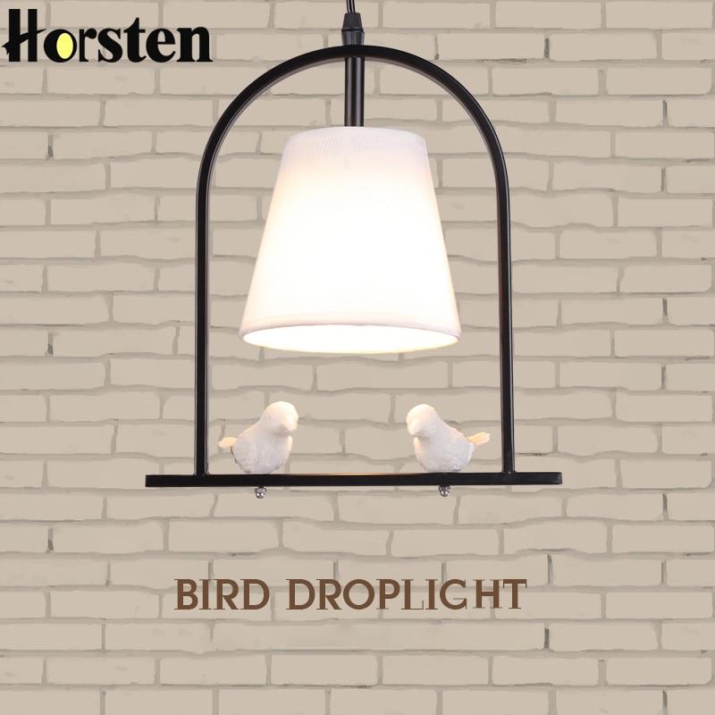 купить Horsten Modern Pendant Lights Indoor Home Lighting Nordic Loft Hanging Light For Kitchen Dining Room Resin Bird Pendant Lamp по цене 6706.59 рублей