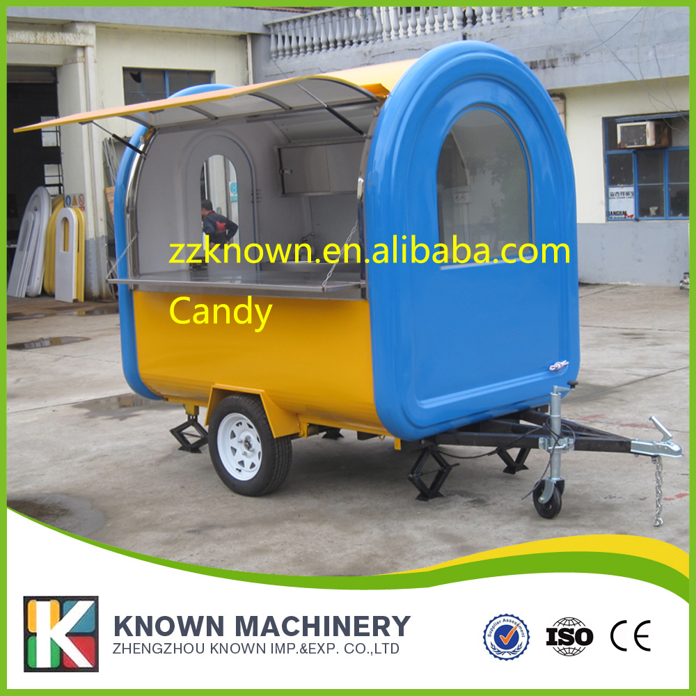 Hot Sale Chinese Food Catering Trucks Kitchen Trailer Mobile Fast Food Cart hot sale cayler