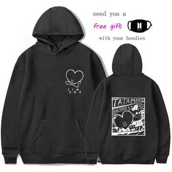 Bts Hoodie Sweatshirt Bt21 LOVE YOURSELF Answer Tear K-pop K Pop Kpop DNA Hooded Female Women FAKE LOVE Hoodis Pullover Hoodies bts love yourself hoodie