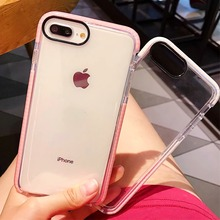 Anti Falling Shockproof For iPhone 6 6S 7 8 9 Plus X Case TPU Cover Stylish Transparent Soft for XS XsMax XR Coque