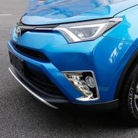 Car Styling Fit For Toyota RAV4 RAV 4 2016 2017 ABS Chrome Front Fog Light Lamp Cover Trim Foglight Decoration Accessories 2Pcs|abs chrome|trim coverchrome accessories -