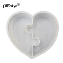 1Pcs Love Heart Silicone Cake Molds  DIY Baking Decorating Tools
