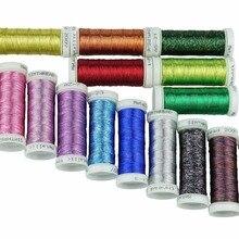 16 или 32 разных цветов, металлическая нить для вышивальной машины или французская вышивка, как декоративные украшения, кружевная нить 200Y каждый