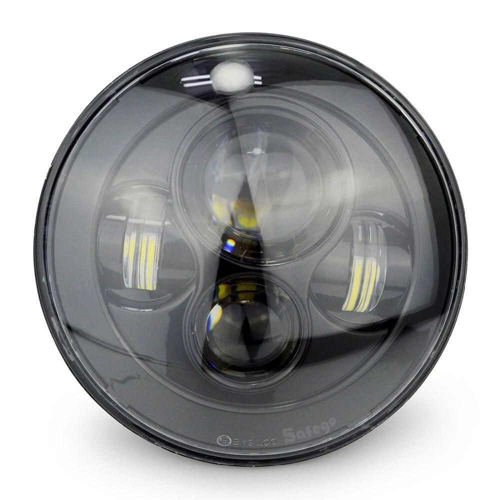 """""""ПК Safego 7"""""""" светодиодный фары Привет-Ло для Harley Дэвидсон мотоцикл хром проектор DAYMAKER спрятал светодиодные лампы Рэнглер Тиджей"""""""