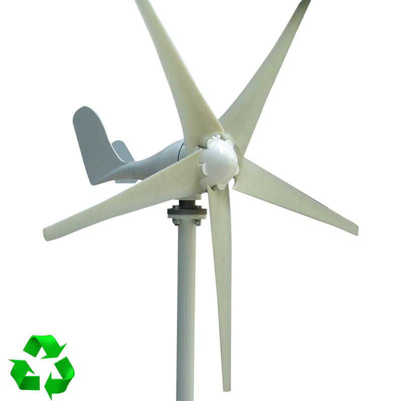 400W Wind Turbine Generator AC 24V 2.0m/s Low Wind Speed Start,5 blade 650mm, with charge controller 800w wind turbine generator 24v 48v 2 5m s low wind speed start 3 blade 1050mm with ip 67 charge controller