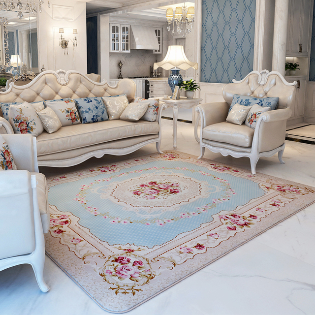 Rustic Style Living Room Floral Carpet Bedroom Decor Anti Slip Carpet Home Interior Rug Super Soft Coral Fleece Floral Carpetsin Carpet From Home Inspiration Carpets For Bedroom Style Interior