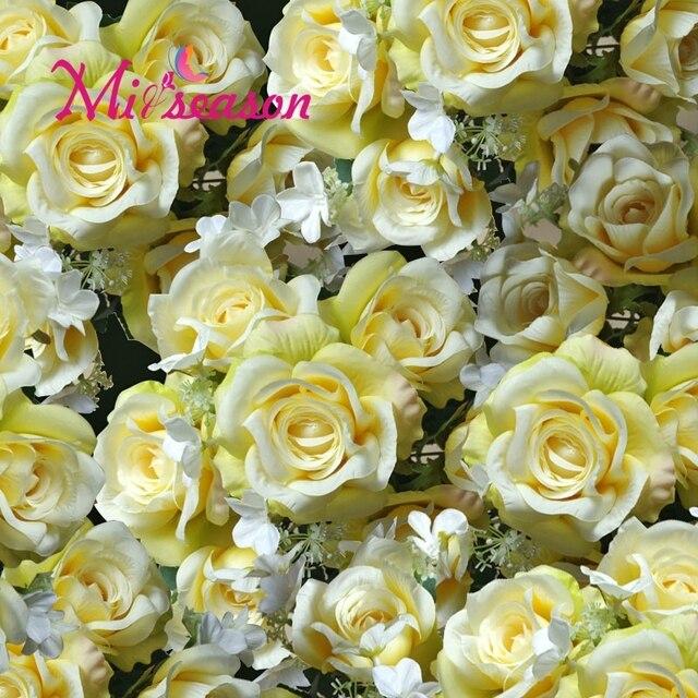 Miiseason 25 pcs Bunga Buatan Untuk Dekorasi Mobil Pernikahan Mariage Motif  Bunga Flores DIY Latar Belakang e7cd9a1b79