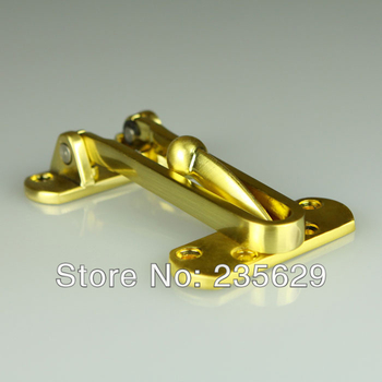 Free Shipping, 215g stainless steel safe door Guard for  Interior doors,Satin Gold  color finish, security door fasten