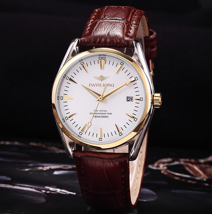 aliexpress com buy 2015 new fashion commercial men leather band aliexpress com buy 2015 new fashion commercial men leather band automatic mechanical watches luxury brand self wind casual watch for men wristwatch from